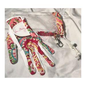 Vera Bradley Golf Glove w/ Mesh Bag